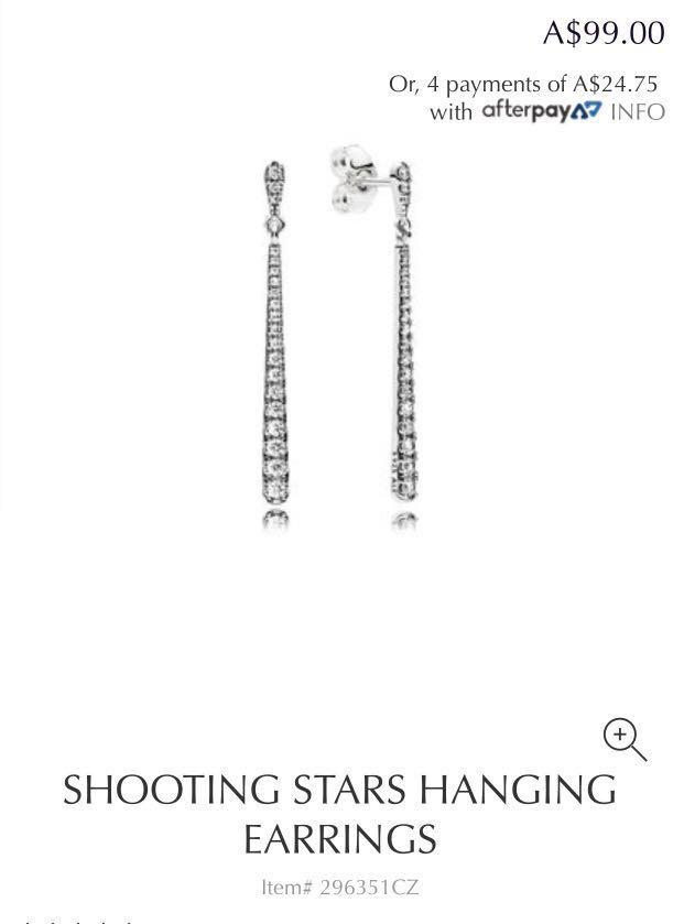 Genuine Pandora Shooting Stars Hanging Earrings 296351CZ