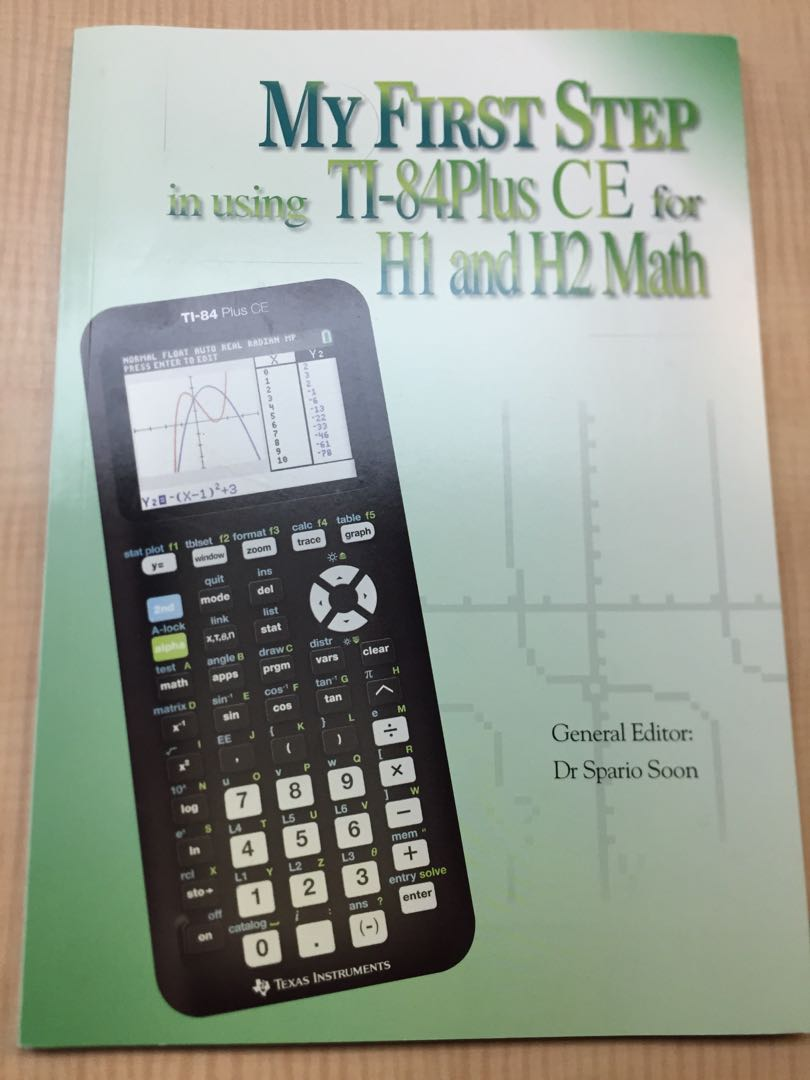 H1 and H2 math guide on using the TI-84 Plus CE calculator