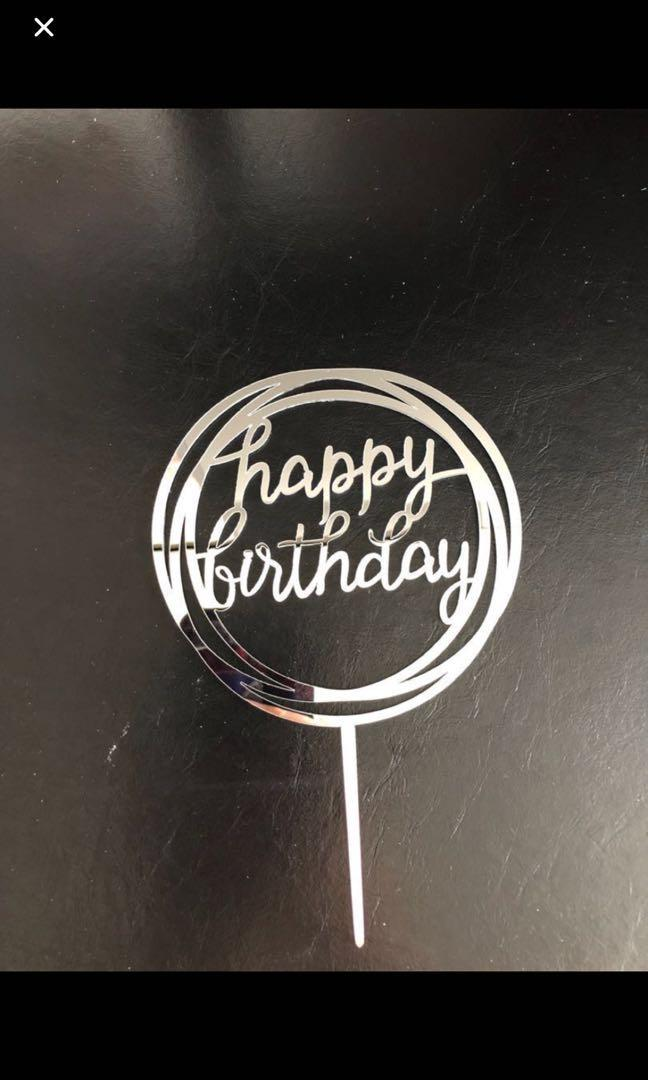 Happy Birthday Acrylic topper number