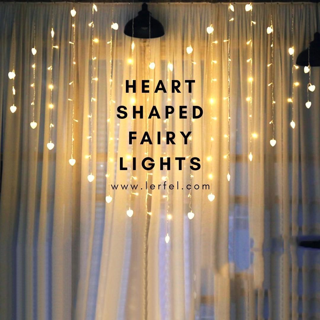 Led Heart Shaped Fairy Lights Wedding Proposal Anniversary