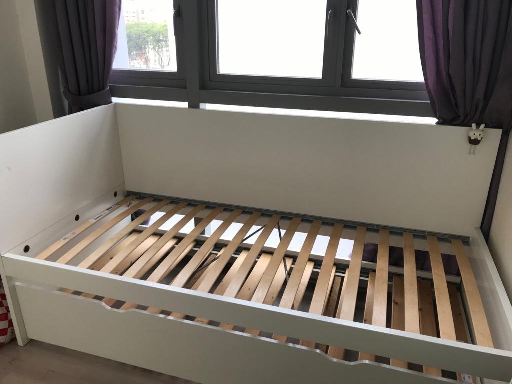 Ikea Bed Frame With Pullout At