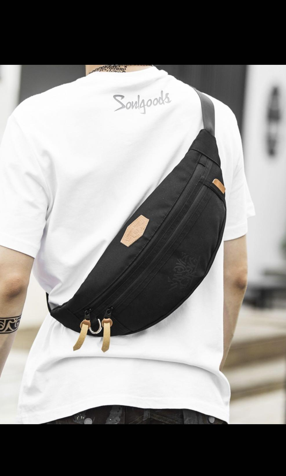 9c23c455953c7 ✔️INSTOCK! Streetwear Black Sling Pouch - Cyclist Chest Bag ...