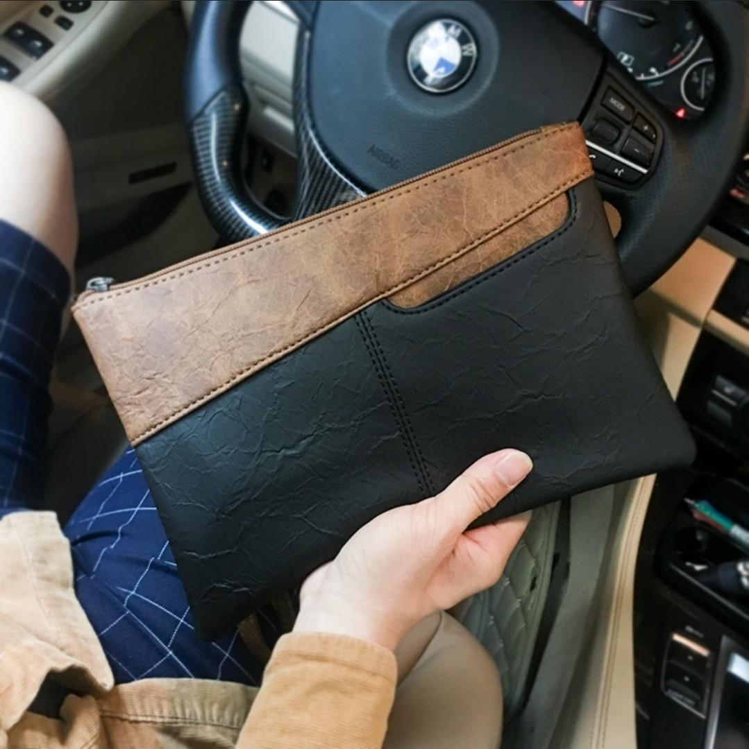 ⚡Klaus Leather Wristlet Clutch Zipper Wallet Bag 7f0d10de8f4d1