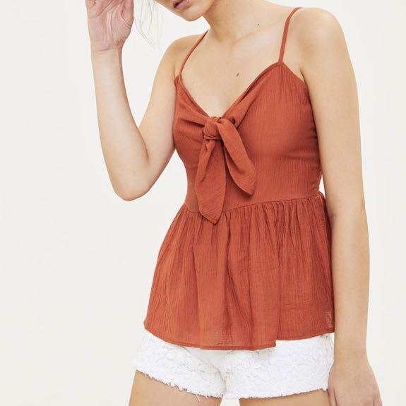 knot front cami top