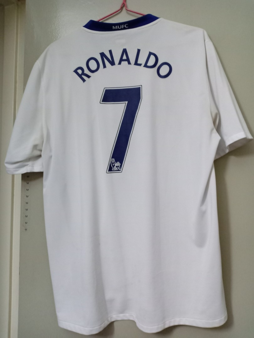 d2a00704386 Man Utd 2008 09 Ronaldo 7 Away Jersey White