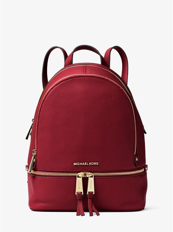 a184af6830c4 Michael Kors Rhea Medium Leather Backpack, Luxury, Bags & Wallets ...
