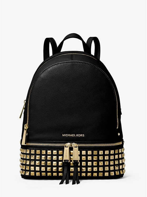 99b3991c56ca5b Michael Kors Rhea Medium Studded Leather Backpack, Luxury, Bags ...
