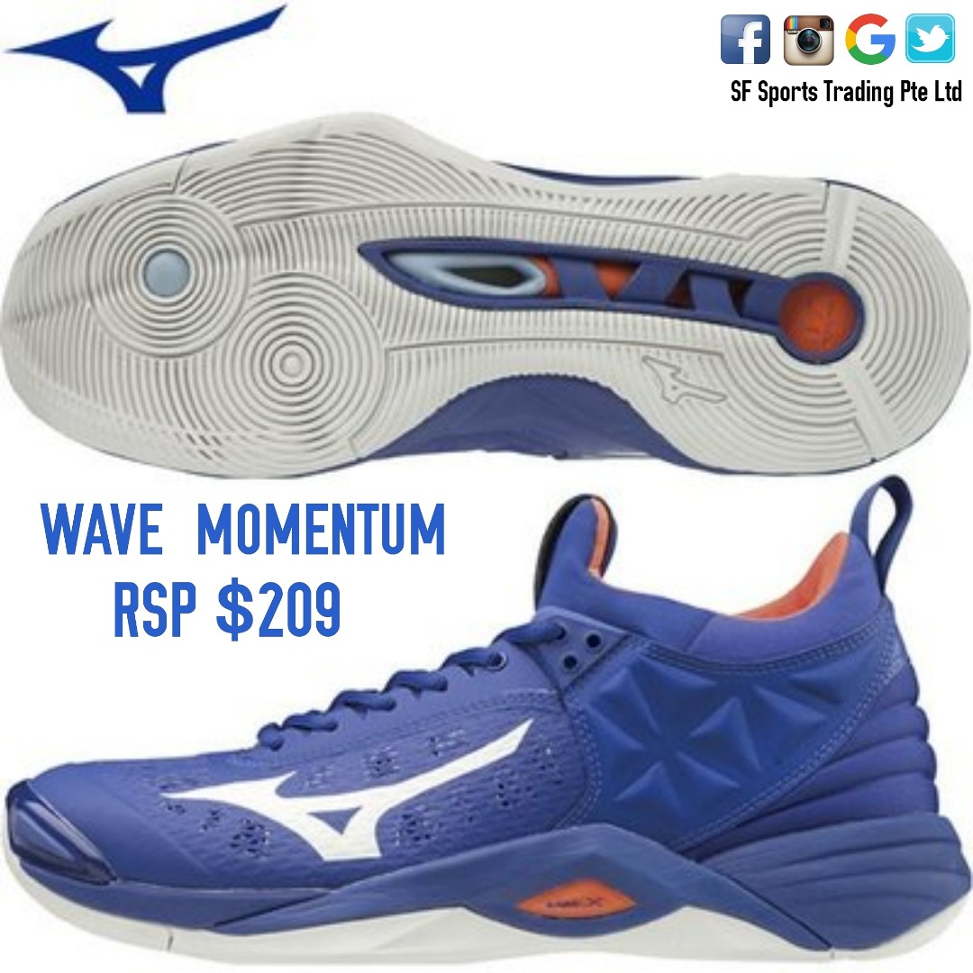 b1efad16add0 Mizuno WAVE MOMENTUM, Sports, Sports Apparel on Carousell