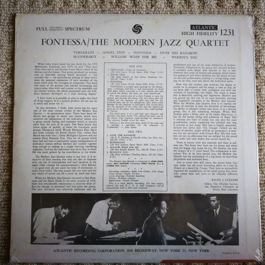 Modern Jazz Quartet Fontessa Atlantic 1231 Vinyl LP Album Stereo NEW SEALED