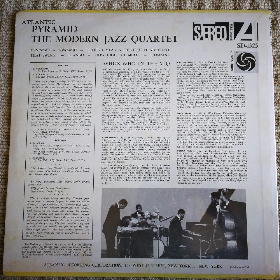 Modern Jazz Quartet Pyramid Atlantic 1325 Vinyl LP Stereo NEW SEALED