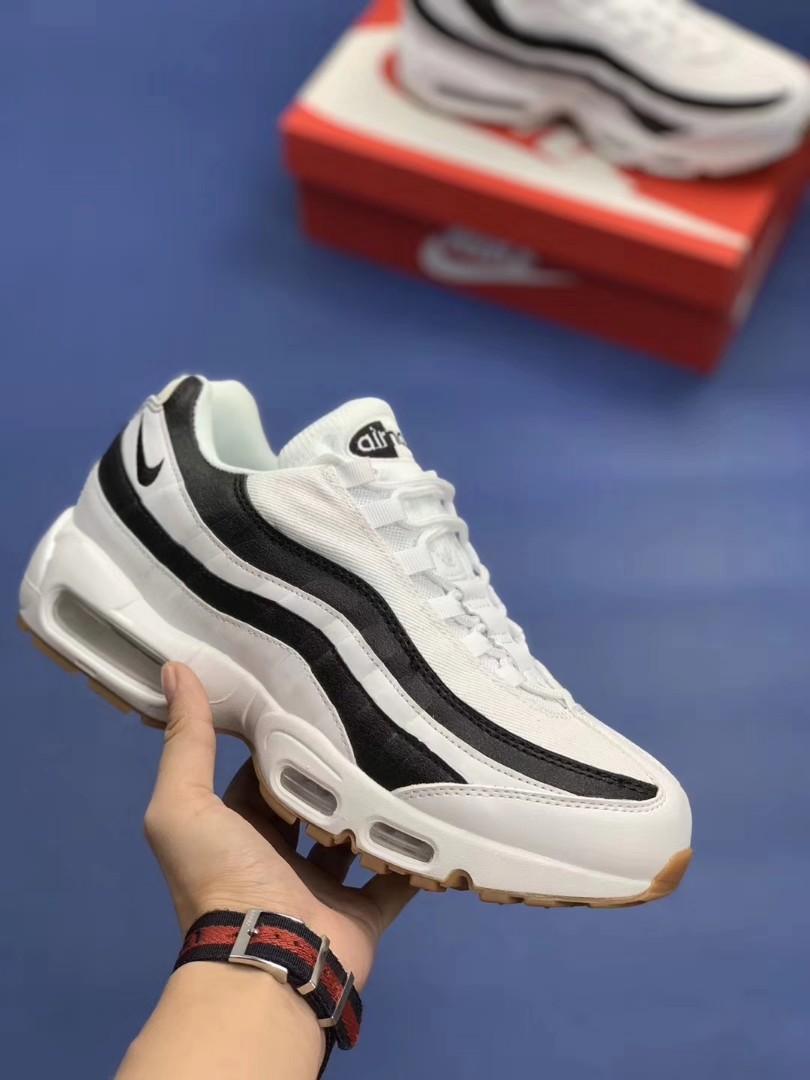 san francisco cf81c e952f Nike Air Max 95 W Shoes White Black 307960-112, Womens Fashi