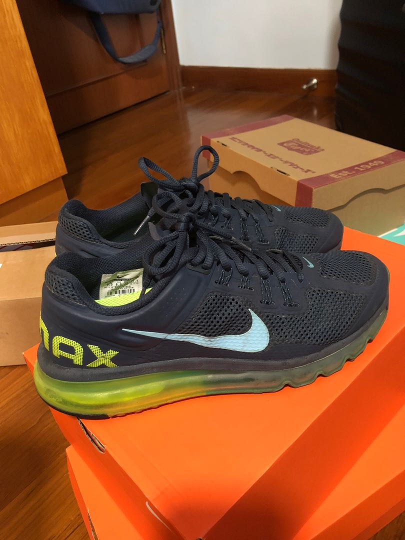 online store d56c1 ad709 Nike Air Max + 2013 Armory Navy  Gamma Blue Volt, Men s Fashion ...
