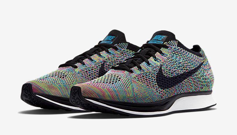 3b2904e8dfdd1 Nike Flyknit Racer Multicolor 2.0 bae size