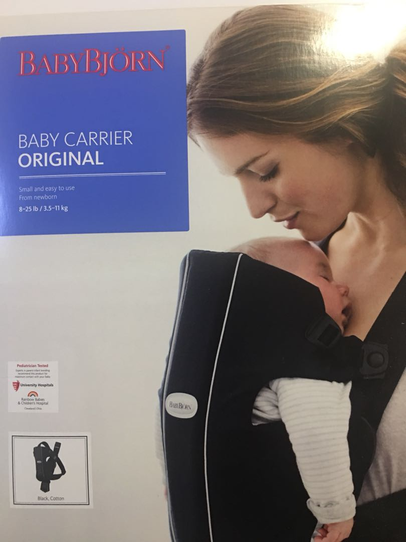 2919a9041ec Preloved Baby Bjorn Carrier Original Black Cotton