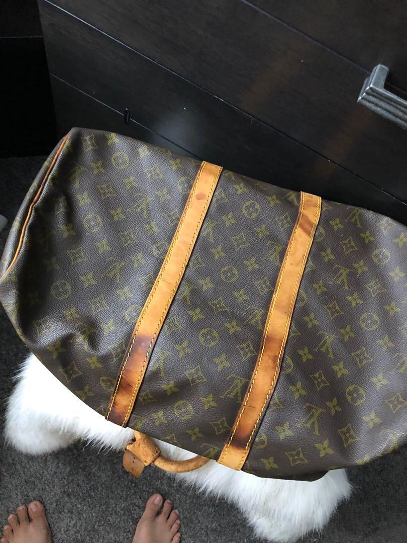 Pre.owned authentic Louis Vuitton vintage  keepall 45 monogram canvas duffel bag
