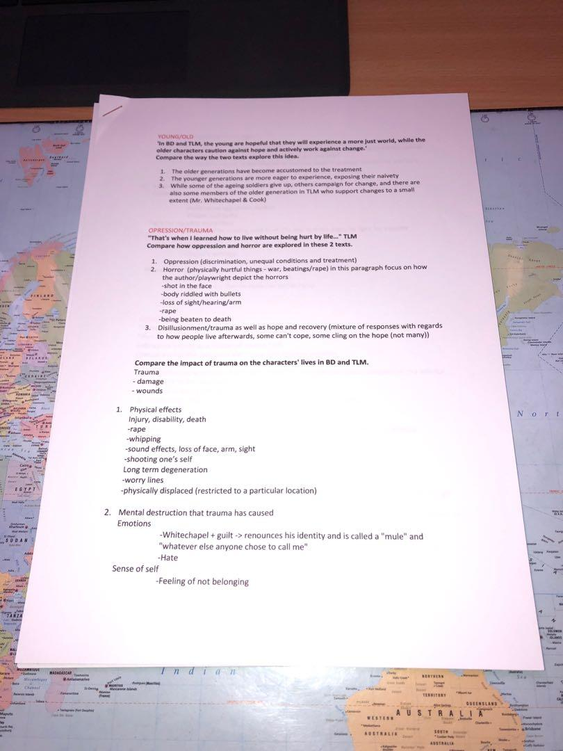 Rear Window, The Longest Memory and Black Diggers essay notes and detailed plans
