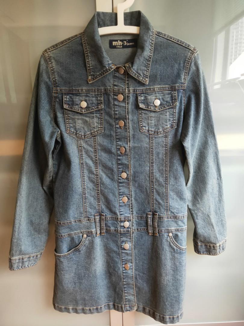 Smart Casual Long Denim Jacket Women S Fashion Clothes Outerwear