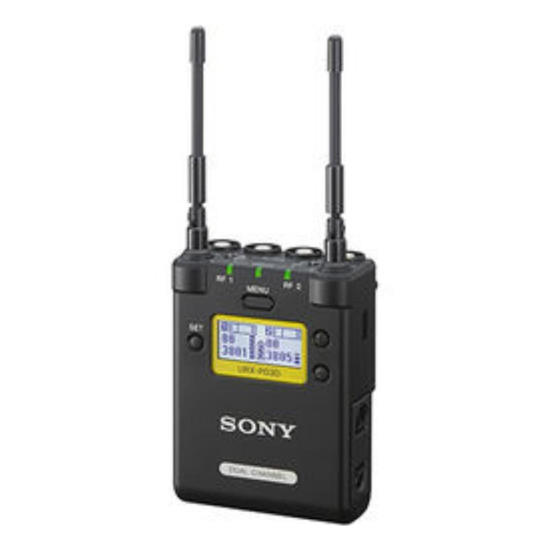 Sony Dual channel audio Receiver URX-P03D 2-Channel Portable Receiver and 1  x URX-P3D - Professional 2 channel wireless Audio