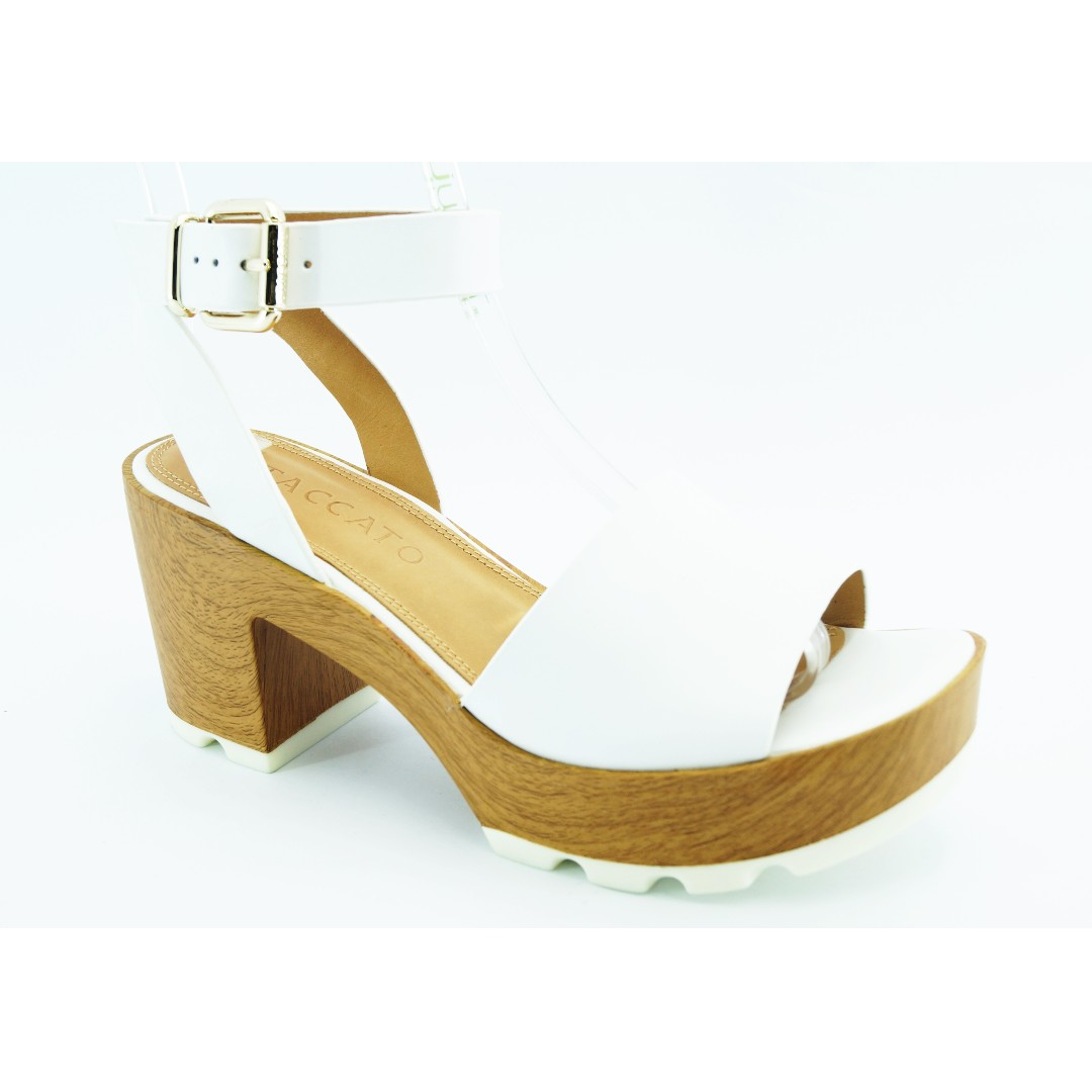 289bf228f20 STACCATO Wooden Weave Heel Shoes