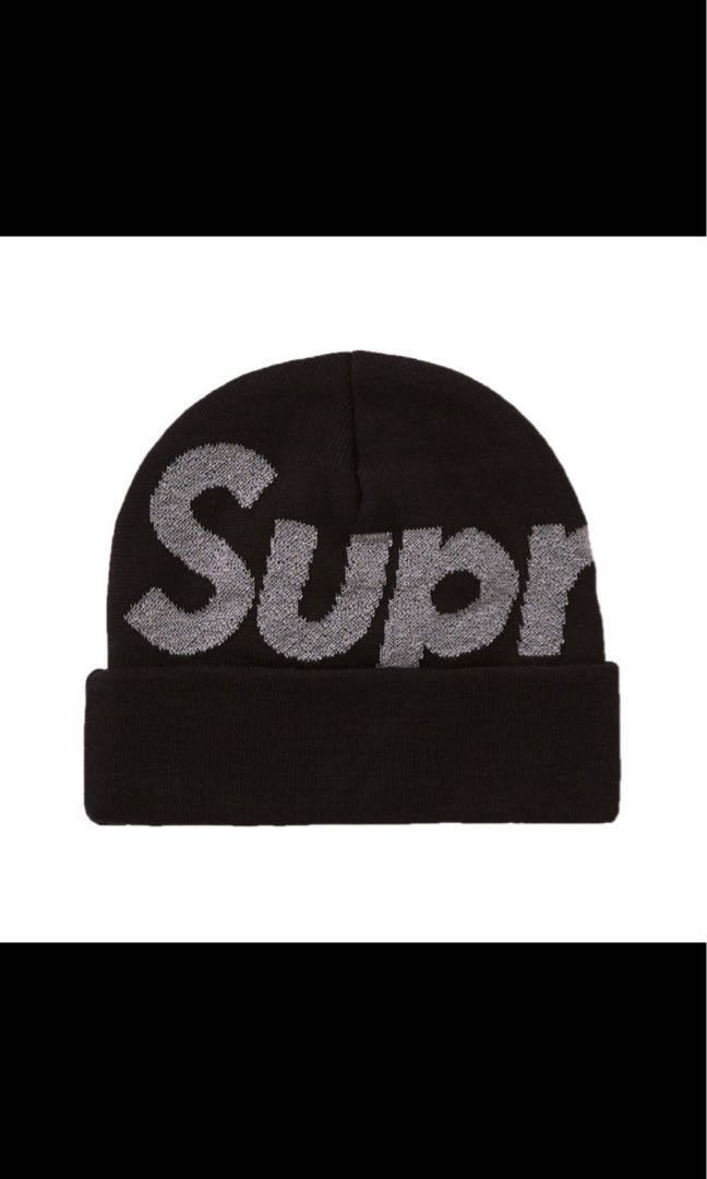 6d4a2a99 Supreme big logo beanie fw18, Men's Fashion, Accessories, Caps & Hats on  Carousell