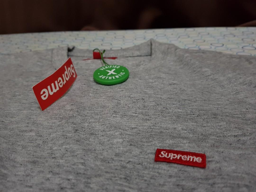 6761b16b Supreme Shirt Gray Size M with StockX tag, Men's Fashion, Clothes ...