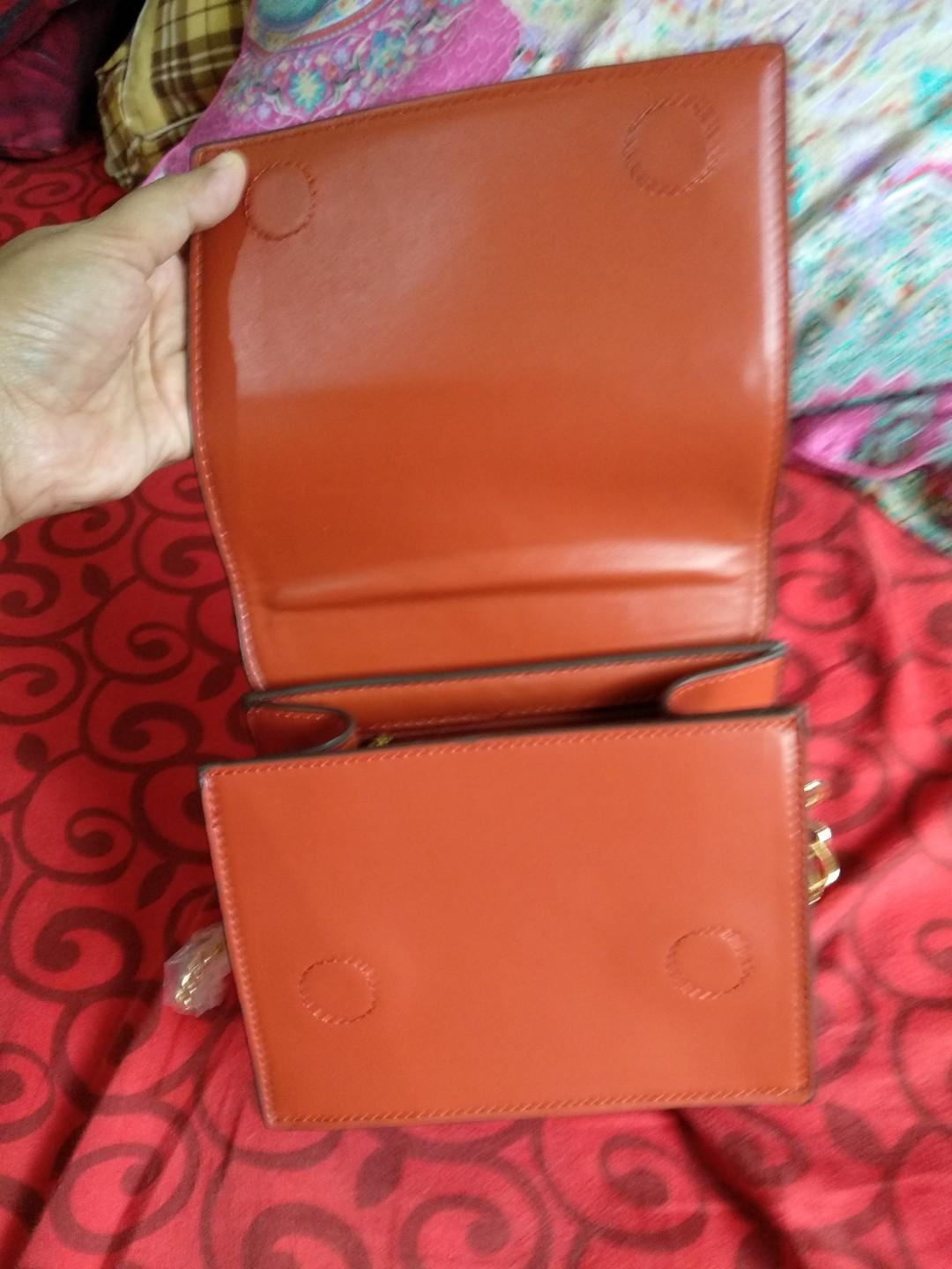 Tas cnk ukuran 17 x 15 orange new