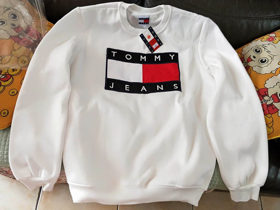 37acb3023 Tommy Hilfiger Jeans white pullover / sweater (UNISEX), Women's ...