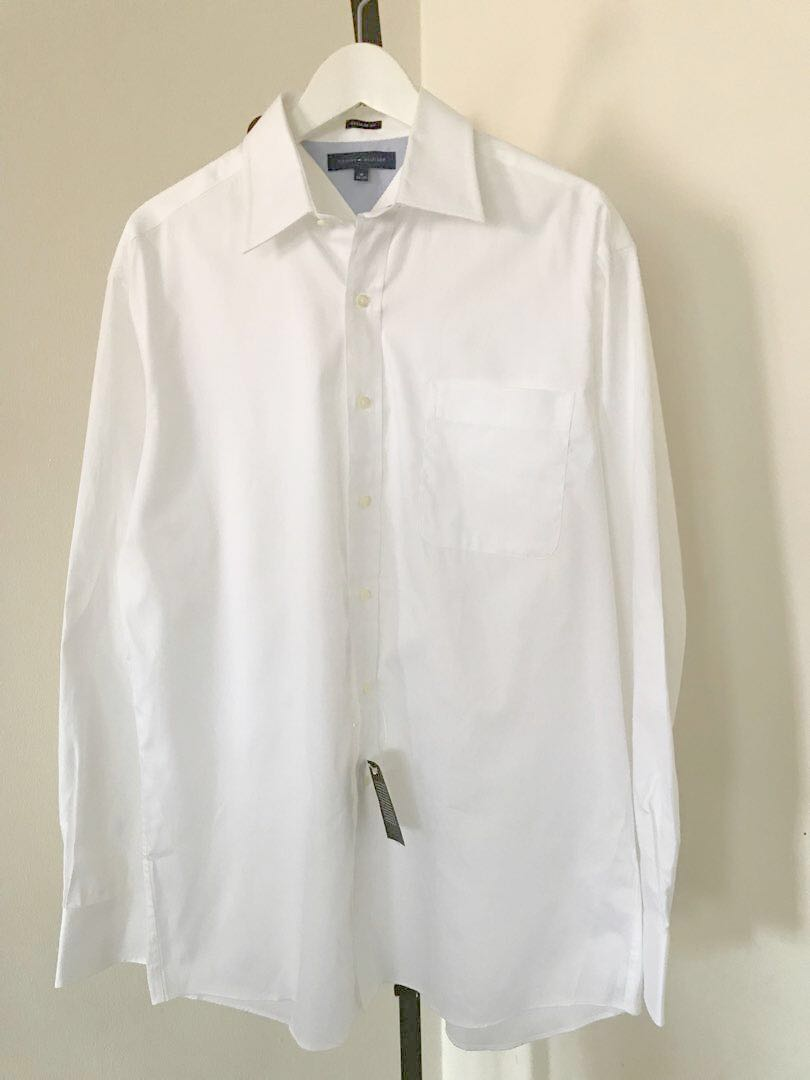 e8bd0f40 Tommy Hilfiger Men's White Shirt (Regular Fit), Men's Fashion ...