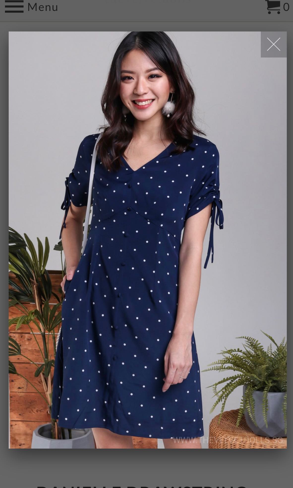 6558a96b039 TVD DANIELLE DRAWSTRING SLEEVE DRESS IN NAVY