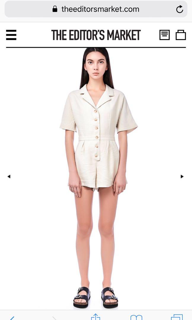 Wayne Shirt Romper, Women's Fashion, Clothes, Rompers