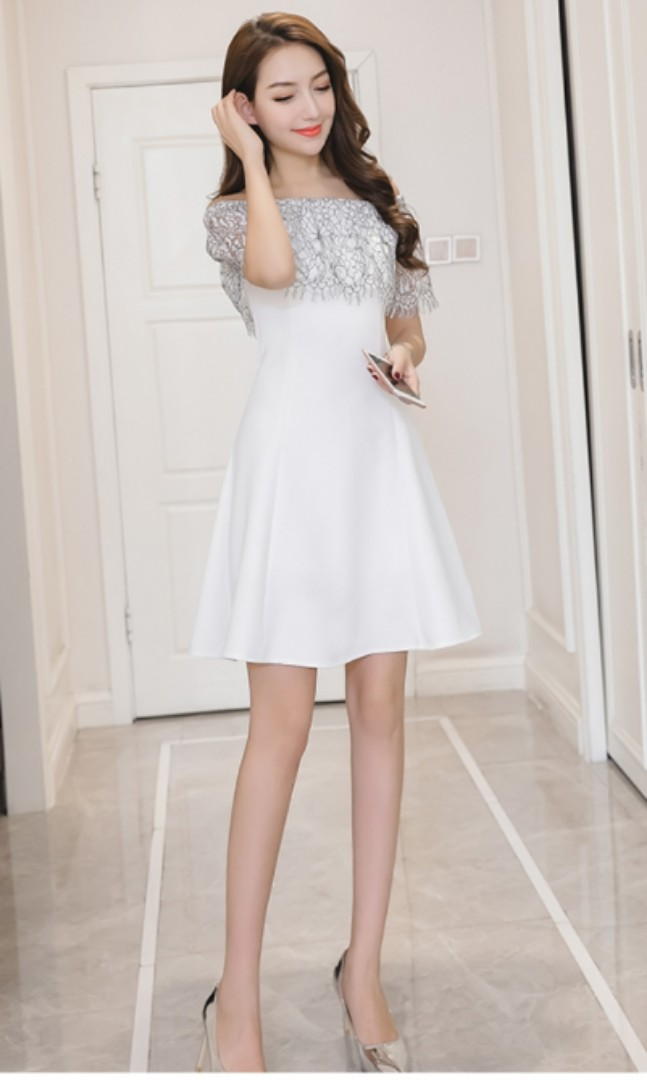 80816a974410 Korean Imported White Off Shoulder Dress