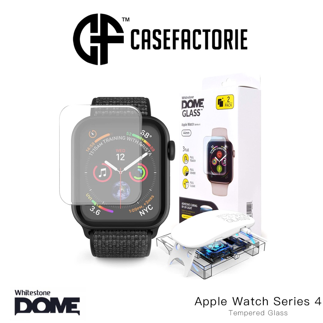 separation shoes 0573c a9fa0 Whitestone Dome Glass Screen Protector for Apple Watch 44mm