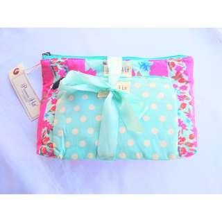 Primrose Hill Clutch Makeup 2pcs Bag Set