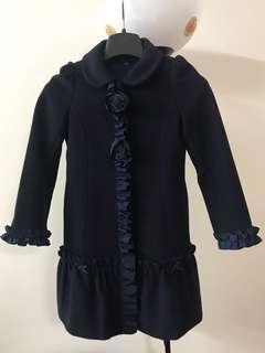 Nicholas and Bears Coat Jacket Diamond Blue Wool