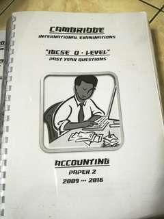 IGCSE Accounting Past Years Paper 2