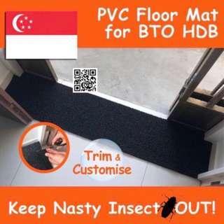 🚚 Black PVC Floor Mat for BTO HDB / Waterproof Carpet Rug