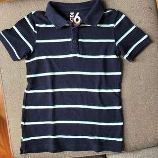 Cotton on navy blue polo shirt Size 6