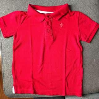 Cotton on red polo shirt Size 6