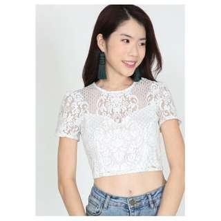 🚚 MDS Lace Cropped Top