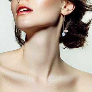 Minimalist Modernist Mismatched Swarovski Crystal Earrings #4