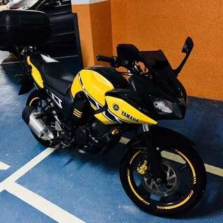 Yamaha FZ16ST (yellow racing stripes)