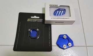 Blue Sidestand & Mainstand Extenders For Yamaha Xmax