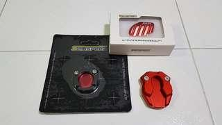 Red Sidestand & Mainstand Extenders For Yamaha Xmax