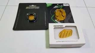 Gold Sidestand & Mainstand Extenders For Yamaha Xmax