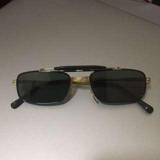 Kacamata Vintage Biker Retro Gold Rare