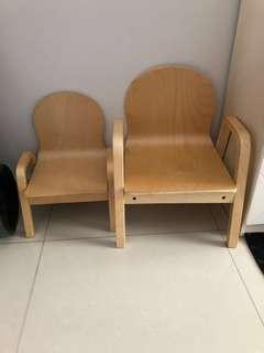 Wooden Toddler adjustable chairs