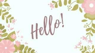 HELLO! I'M BACK!