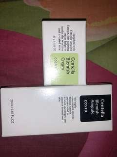 COSRX centella blemish cream & COSRX centella blemish ampule