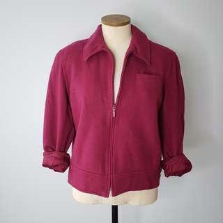 Pink Fleece Zip Up Sweater