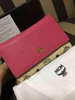 AUTHENTIC MCM TRIFOLD WALLET WITH BOX, CARDS AND DUSTBAG